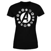 Avengers Team Logo Women's T-Shirt - Black