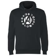 Sweat à Capuche Homme Team Logo Avengers - Noir