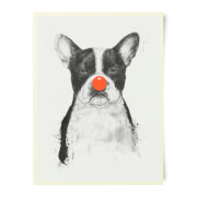 Red Nosed Bulldog Art Print