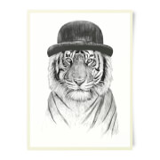 Tiger In A Hat Art Print