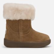 UGG Babie's Jorie II Suede Sheepskin Collar Boots - Chestnut