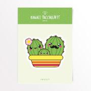 Kawaii Succulents Familie Vinyl Aufkleber