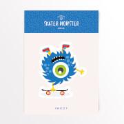 Skater Monster Skateboard Vinyl Aufkleber