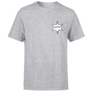 Toy Story Sheriff Woody Badge Men's T-Shirt - Grey