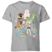 Toy Story Group Shot Kids' T-Shirt - Grey