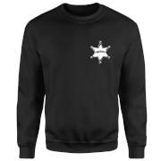 Toy Story Sheriff Woody Badge Sweatshirt - Black