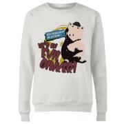 Toy Story Evil Oinker Women's Sweatshirt - White