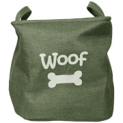 Canvas Pet Toy Basket - Forest Green