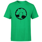 Magic The Gathering Green Mana Splatter Men's T-Shirt - Kelly Green
