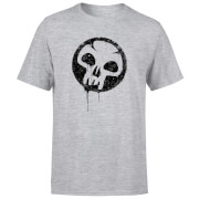 Magic The Gathering Black Mana Splatter Men's T-Shirt - Grey