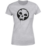 Magic The Gathering Black Mana Splatter Women's T-Shirt - Grey