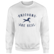 Unicorns Are Real Sweatshirt - White