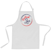 British Cook Circle Logo Apron - White
