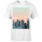 New York Men's T-Shirt - White