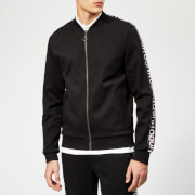 HUGO Men's Dacido Jersey Bomber Jacket - Black