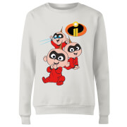 Incredibles 2 Jack Jack Poses Women's Sweatshirt - White