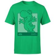 Nintendo Yoshi Kanji Line Art Herren T-Shirt - Grün
