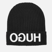 HUGO Men's Beanie Hat - Black