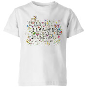I'd Rather Wear Flowers In My Hair Than Diamonds Around My Neck Kids' T-Shirt - White