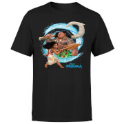 Moana Wave Men's T-Shirt - Black
