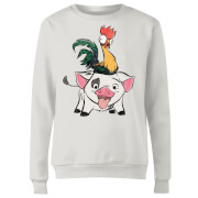 Moana Hei Hei And Pua Women's Sweatshirt - White