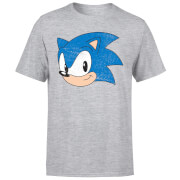 Sonic The Hedgehog Vintage Sonic Face Herren T-Shirt - Grau