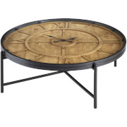 Premier Housewares Trinity Round Coffee Table - Iron/Fir Wood