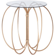Fifty Five South Lexa Convex Table - Rose Gold