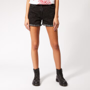 McQ Alexander McQueen Women's Denim Hotpants - Black Leopard