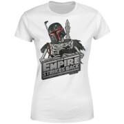 Star Wars Classic Boba Fett Skeleton Damen T-Shirt - Weiß