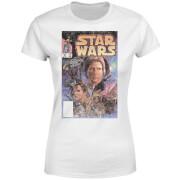 Star Wars Classic Classic Comic Book Cover Damen T-Shirt - Weiß