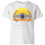 Star Wars Classic Star Wars Sunset Tie Kinder T-Shirt - Weiß