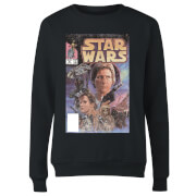 Star Wars Classic Classic Comic Book Cover Damen Pullover - Schwarz