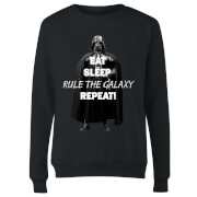 Star Wars Classic Eat Sleep Rule The Galaxy Repeat Damen Pullover - Schwarz