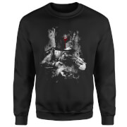 Star Wars Boba Fett Distressed Sweatshirt - Black