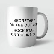Secretary On The Outside Mug