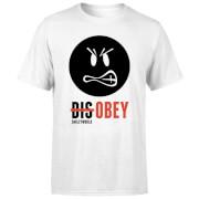 Smiley World Slogan Disobey Men's T-Shirt - White