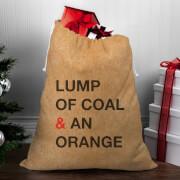Lump Of Coal & An Orange Christmas Sack