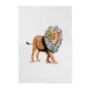 Jonas Loose Floral Lion Cotton Tea Towel