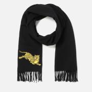 KENZO Women's Jumping Tiger Wool Scarf - Black