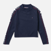 Tommy Hilfiger Girls' Iconic Logo Sweatshirt - Black Iris