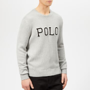 Polo Ralph Lauren Men's Embroidered Logo Knitted Jumper - Andover Grey Heather