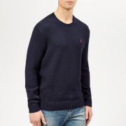 Polo Ralph Lauren Men's Crew Neck Knitted Jumper - Hunter Navy