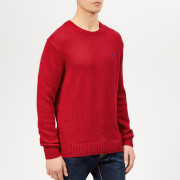 Polo Ralph Lauren Men's Crew Neck Knitted Jumper - Samba Red