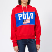 Polo Ralph Lauren Women's Pullover Polo Hoodie - Red