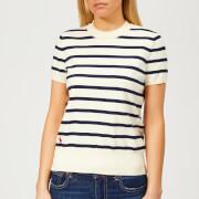 Polo Ralph Lauren Women's Pima Striped Short Sleeve Knitted Jumper - Multi