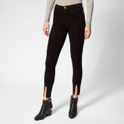 Frame Women's Le High Skinny Front Split Jeans - Film Noir