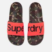 Superdry Men's Beach Slide Sandals - Camo/Hazard Orange/Black