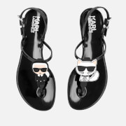 Karl Lagerfeld Women's Jelly Karl Ikonic Sling Sandals - Black