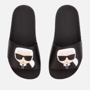 Karl Lagerfeld Women's Kondo II Ikonic Slide Sandals - Black